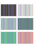 Stripes. Set of 6 decorative wallpapers for letters or background Stock Photography
