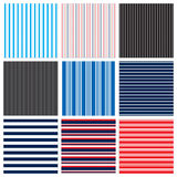 Stripes. Different stripes as seen on shirts Stock Images
