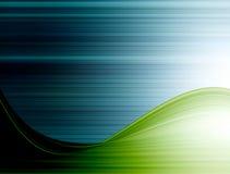 Stripes background. Blue stripes  with green waves. background illustration Stock Images