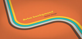 Stripes background. Horizontal retro stripes banner. EPS10 vector image Royalty Free Stock Images