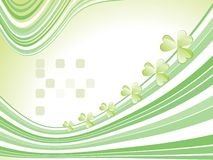 Stripes background with shamrock Stock Photos