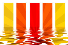 Stripes Background With Water Reflection Stock Images