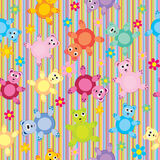 Stripes and bears pattern seamless Stock Photo