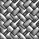 Stripes black and white geometric seamless pattern, vector backg Royalty Free Stock Images