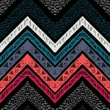 Stripes bright tribal seamless pattern with zigzag. Handmade stripes bright tribal seamless pattern with zigzag Stock Photography