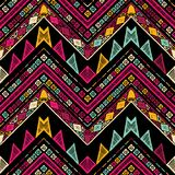 Stripes bright tribal seamless pattern with zigzag. Handmade stripes bright tribal seamless pattern with zigzag Royalty Free Stock Photo