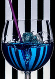 Stripes and bubbles Royalty Free Stock Photography