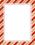 Stripes Christmas Frame Royalty Free Stock Image
