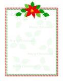 Stripes christmas frame stock image