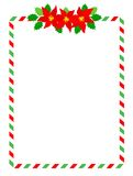 Stripes christmas frame Royalty Free Stock Photos