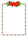 Stripes christmas frame royalty free stock photos