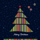 Stripes Christmas tree background. Vector. Stock Photo