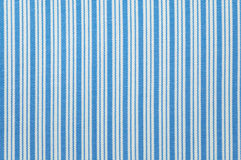 Stripes cloth pattern. Close up seamless stripes white and blue fabric pattern texture background Stock Images