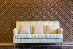 Stripes cloth sofa Royalty Free Stock Photography