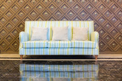 Stripes cloth sofa Royalty Free Stock Photo