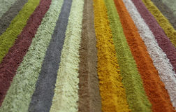 Stripes of colorful spice. These colorful natural powders are used as spice in Middle Eastern cuisines Royalty Free Stock Photo