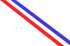 Stripes in colors of the dutch national flag Royalty Free Stock Photography