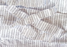 Stripes of crumpled DNA sequence Royalty Free Stock Images