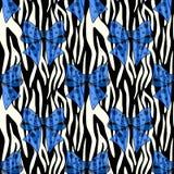 Картина нашивок зебры безшовная Печать зебры, шкура, нашивки тигра, абстрактная картина, линия предпосылка, ткань Изумляя рука бесплатная иллюстрация