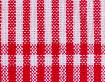 Stripes  fabric closeup , tablecloth texture Stock Photo