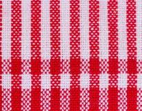 Stripes  fabric closeup , tablecloth texture Stock Photo