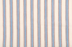 Stripes fabric pattern. Close up stripes brown and blue fabric pattern texture background Stock Photo