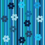 Stripes and flowers background Stock Photography