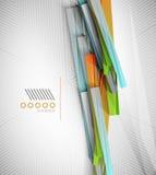 Stripes geometric shape paper template Stock Images