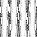 Stripes of Halftone Dots, Vector Seamless Pattern Stock Images