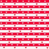 Stripes and Hearts Royalty Free Stock Images