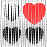 Stripes hearts seamless Royalty Free Stock Images