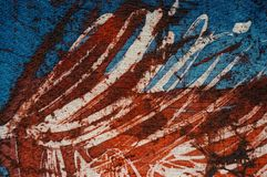 Stripes, hot batik, background texture, handmade on silk, abstract surrealism art stock image