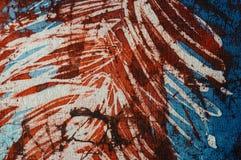 Stripes, hot batik, background texture, handmade on silk, abstract surrealism art stock photography