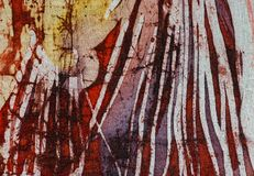Stripes, hot batik, background texture, handmade on silk, abstract surrealism art royalty free stock photography