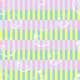 Stripes memphis style seamless pattern. Trendy colorful geometrical print. abstract background. 1980s style design stock illustration