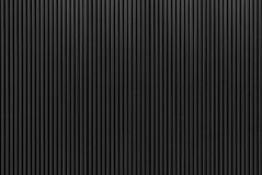 The stripes metal sheet texture in black color Stock Photos