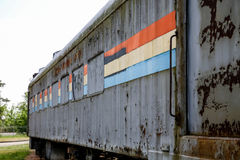 Stripes on Old Rusty Train Stock Photo