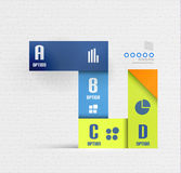 Stripes option infographic design template Royalty Free Stock Photography
