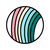 Stripes in pastel colors logog hand drawn for prints posters banners t shirts and stickers kids baby design business. Minimalism royalty free illustration