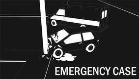 Stripes pattern car crash and emergency Royalty Free Stock Image