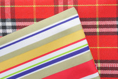 Stripes and plaid textiles Royalty Free Stock Photo