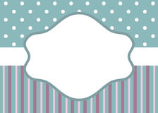 Stripes and polka dot on blue Stock Photography