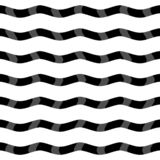 Stripes rope seamless pattern with black and white colors royalty free illustration