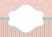 Stripes and roses on pink Royalty Free Stock Photo