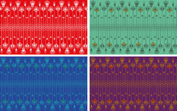 Stripes seamless pattern of egypt elements. Stock Images