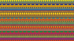 Stripes seamless pattern of egypt elements Stock Photography