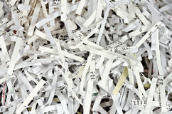 Stripes of shredded papers Royalty Free Stock Image