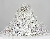 Stripes of shredded papers Royalty Free Stock Images