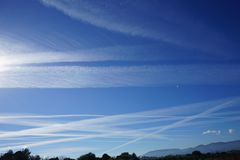 Stripes in the sky stock photography