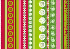 Stripes snowflake designs. Bright stripes Christmas  background with snowflakes elements - vector illustration Stock Image